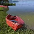 Boats By The Lake Iceland  by Elizabetha Fox