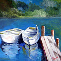 Boats Docked by Julie Lamons