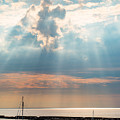 Boats In God Rays by Scott Chimber