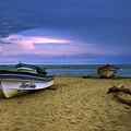 Boats In Pedasi by Iris Greenwell