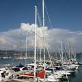 Boats In Port Tuscany by Ezeepics