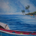 Boats In The Caribbean by Nancy Nuce