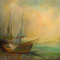 Boats In The Mist by Blake Originals - Marjorie and Beverly