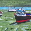 Boats Low Tide Emsworth by Neal Crossan