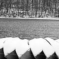 Boats - Lower Twin Lake Bw by Michael Hills