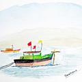 Boats Near Khashid Beach by Keshava Shukla