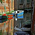 Boats On Canal In Venice by Michael Henderson