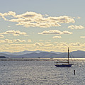 Boats On Lake Champlain Vermont by Catherine Sherman