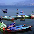 Boats On Phewa Lake, Pokhara, Nepal by Aidan Moran