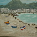 Boats On The Beach In Spain by Kenlynn Schroeder