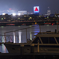 Boats On The Charles River Citgo Sign Boston Massachusetts by Toby McGuire