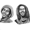 Bob And Bob Marley by Murphy Elliott