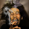 Bob Marley-burning Lights 3 by Reggie Duffie