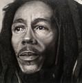 Bob Marley Drawing by Angelee Borrero