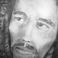 Bob Marley Pencil Portrait by Roly O