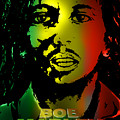 Bob Marley Print by Lloyd DeBerry