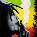 Bob Marley Smoking by Jocelyn Passeron