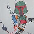 Boba Fett Caricature by Stan Levine