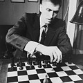 Bobby Fischer 1943-2008 Competing At An by Everett