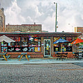 Bobs Downtown Diner Front Door by Michael Thomas
