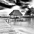 Bocas Del Drago Clouds In Panama by John Rizzuto