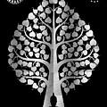 Bodhi Tree_iv_gold05_greyscale by Bobbi Freelance