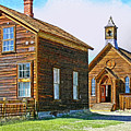 Bodie Church Stylized Eastern Sierra Photo by Kim Hawkins Eastern Sierra Gallery