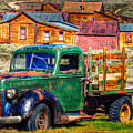 Bodie Ghost Town Green Truck by Scott McGuire