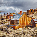 Bodie Stamp Mill, Sunrise With A Dusting Of Snow by Kenneth Bradley