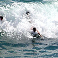Body Surfing The Ocean Waves by R Muirhead Art