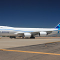Boeing 747-8 N50217 At Phoenix-mesa Gateway Airport by Brian Lockett