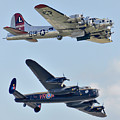 Boeing B-17g Flying Fortress And Avro Lancaster by Alan Toepfer