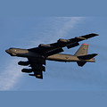 Boeing B-52 Stratofortress Taking Off From Tinker Air Force Base Oklahoma With Double Border by L Brown