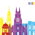Bogota Skyline Pop by Pablo Romero