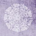 Boho Floral Mandala 1- Art By Linda Woods by Linda Woods