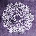 Boho Floral Mandala 2- Art By Linda Woods by Linda Woods