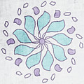 Boho Floral Mandala 4- Art By Linda Woods by Linda Woods