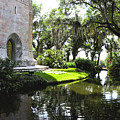 Bok Tower With Moat by Debra White