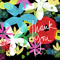 Bold Floral Thank You Card- Design By Linda Woods by Linda Woods