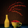 Bold Yellow With Raspberries by Tom Mc Nemar