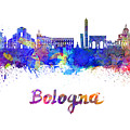 Bologna Skyline In Watercolor by Pablo Romero