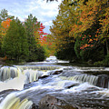 Bond Falls In Autumn by Brook Burling