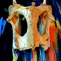 Bone And Paint Abstract by John Malone