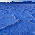 Bonneville Salt Flats At Dusk by Gary Whitton