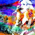 Bonnie Raitt Color Splash by John Malone