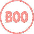Boo Rubber Stamp by Bigalbaloo Stock