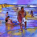 Boogieboarding At Sandy's by Douglas Simonson