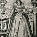 Book Frontispiece Celebrating Queen Elizabeth I's Happy And Prosperous Reign by English School