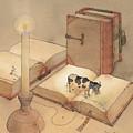 Bookish Cow by Kestutis Kasparavicius
