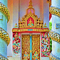 Bophut Temple In Thailand by Charlene Mitchell